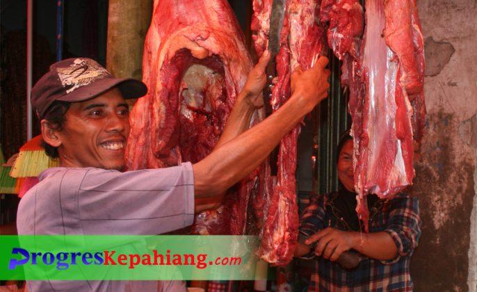 Daging di Pasar Kepahiang
