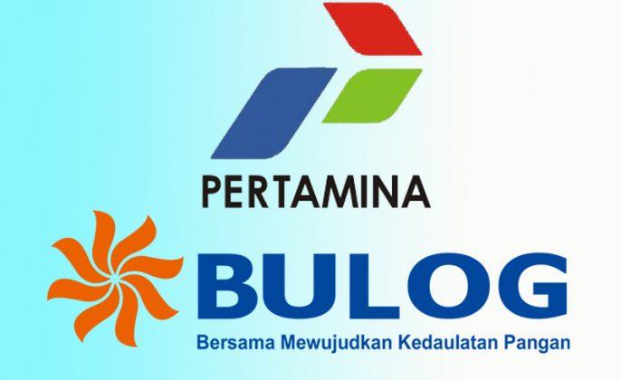 Logo pertamina dan bulog
