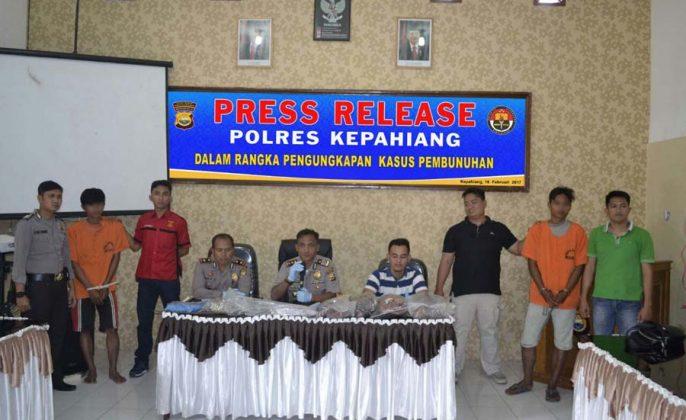 press release polres kepahiang
