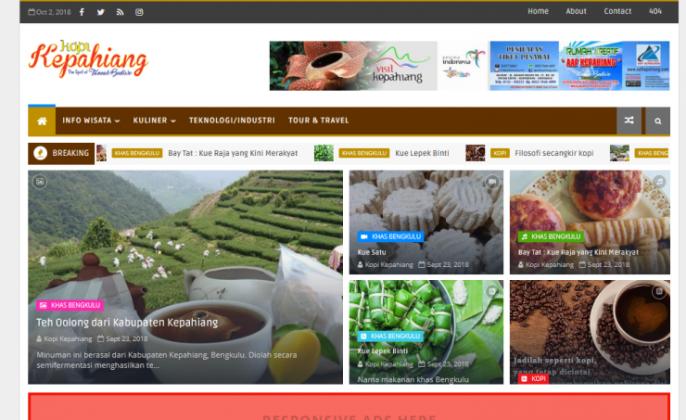 Website Kopi Kepahiang