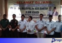 Audiensi Kepala BNN Provinsi