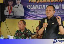 Ketua DPRD Windra sambutan