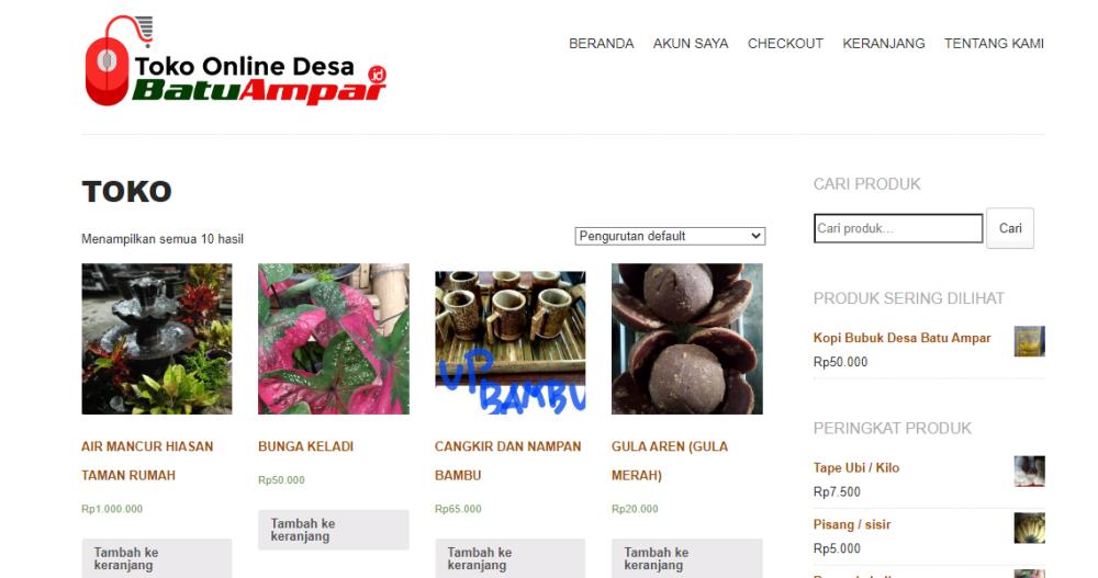 toko online desa batam