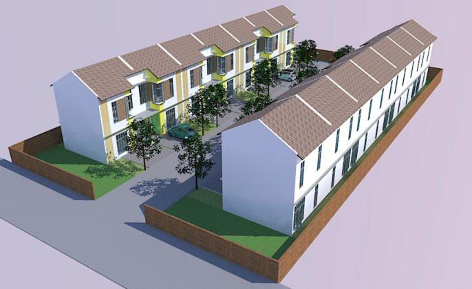 ilustrasi site plan perumahan